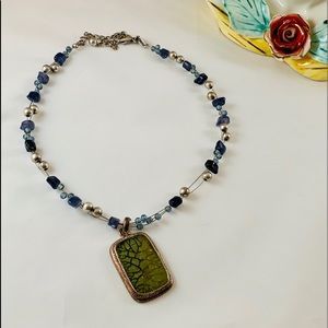 Chico's Beaded & Wired Necklace & Pendant